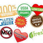 Food label collage