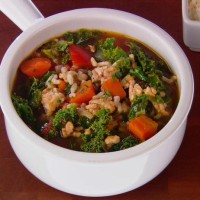 Turkey kale farro soup