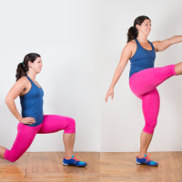 Rear lunge with front kick