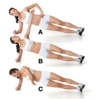 Side plank reach around