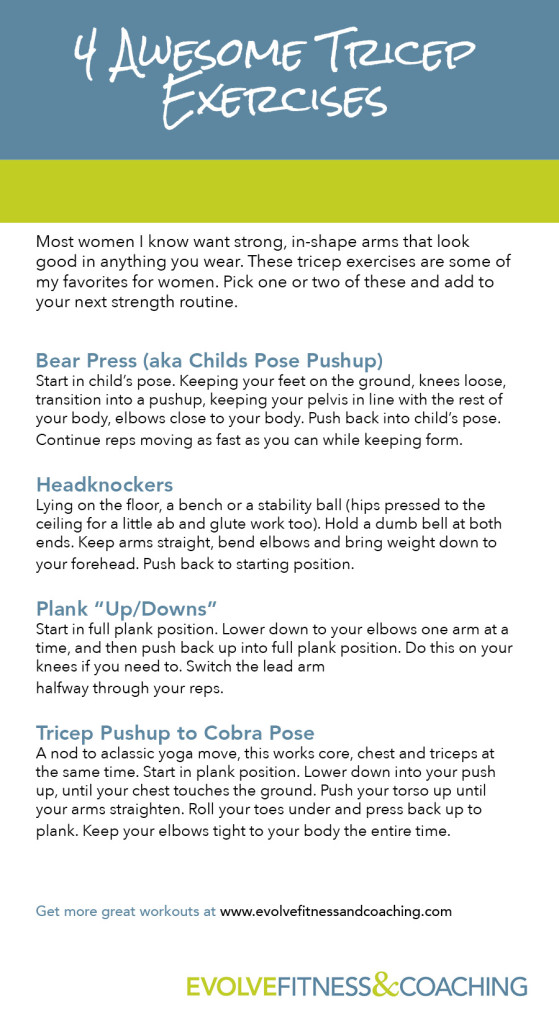 Fave Tricep Exercises